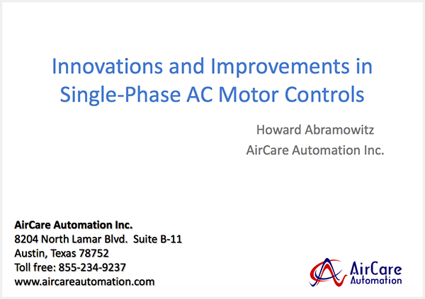 AC Fan Motor Controls - Aircare Automation Inc